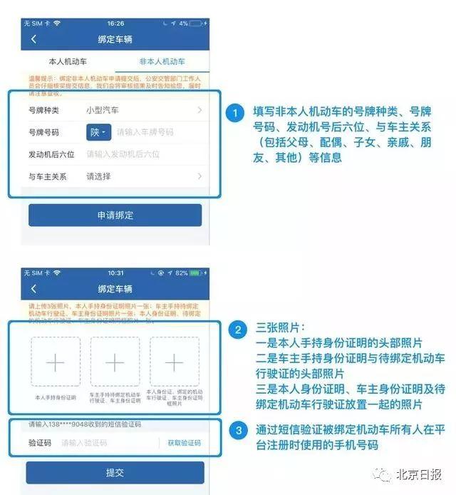 北京自助绑定非本人名下机动车及开通网上处理违章流程[墙根网]