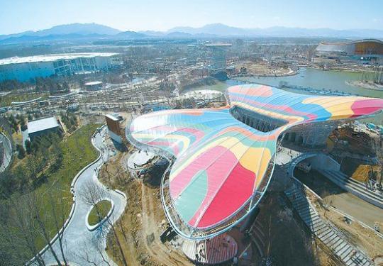全国首个多彩膜结构建筑是如何诞生的?北京世园会主会场静待八方来客