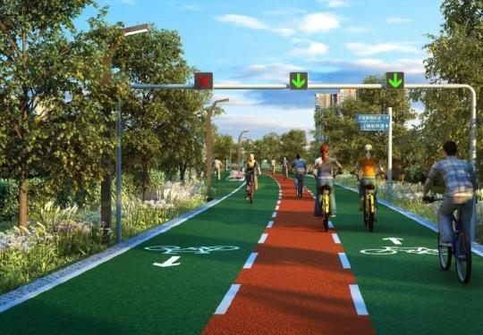 北京首条自行车专用路5月底开通运营 8个出入口位置公布