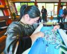 北海公园开张刺绣文创店 展示皇家亲蚕文化