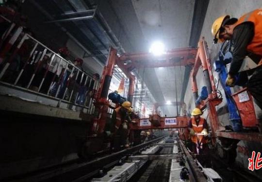 北京地铁7号线东延全线短轨通,这两条线路年底将实现初期运营