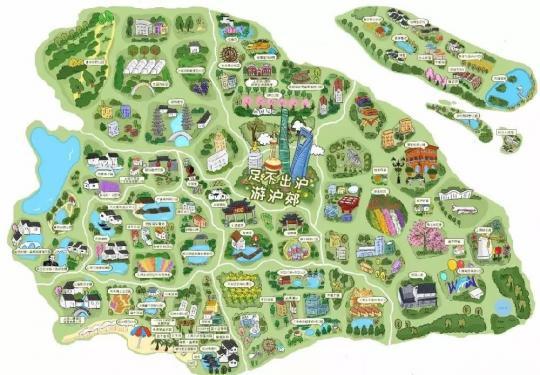 上海闵行手绘游览地图新鲜出炉 带你走遍闵行美景