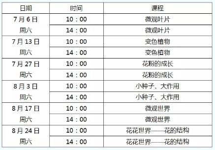 2019北京自然博物馆8月活动汇总