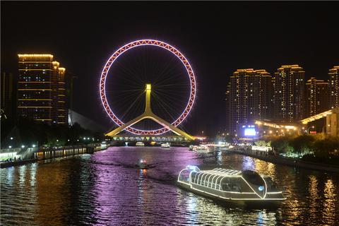天津海河游船天津站码头、古文化街码头、大悲院码头(日景票+夜景票)