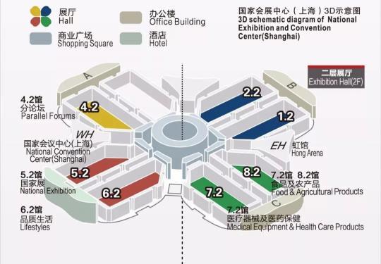 2019进博会国家会展中心(上海)3D示意图
