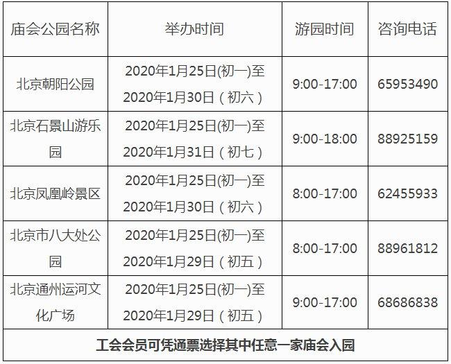 2020北京30万张庙会门票免费抢票攻略(工会会员必看)