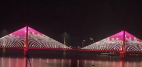 武汉解封灯光秀市民高喊加油 钟声响起就像跨年夜[墙根网]