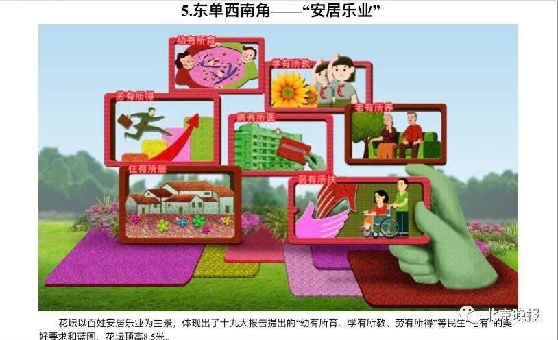 2020年国庆天安门广场及长安街沿线花卉布置方案