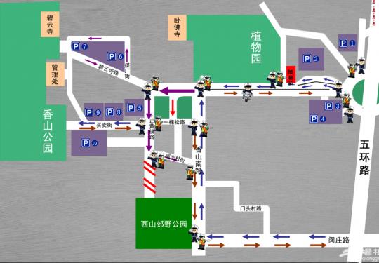 香山地区10处停车场名单