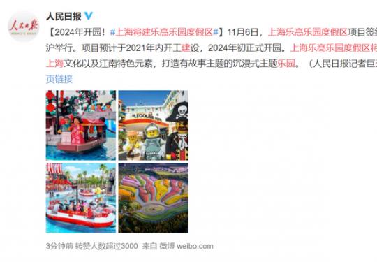 期待!上海将建乐高乐园度假区,2024年开园