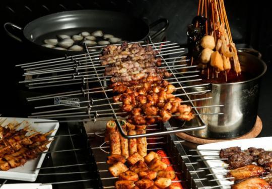 【海淀·五道口·夜焰串吧】69元秒价值238元苏尼特羊肉串、毛肚锅双人餐!|