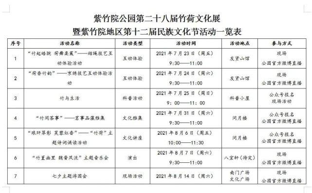 2021北京紫竹院公园竹荷文化展参观攻略(时间+活动)[墙根网]