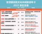 2022京津冀名胜文化休闲旅游年卡景区名录